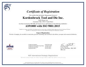 AS9100D-ISO9001 2015 Certification